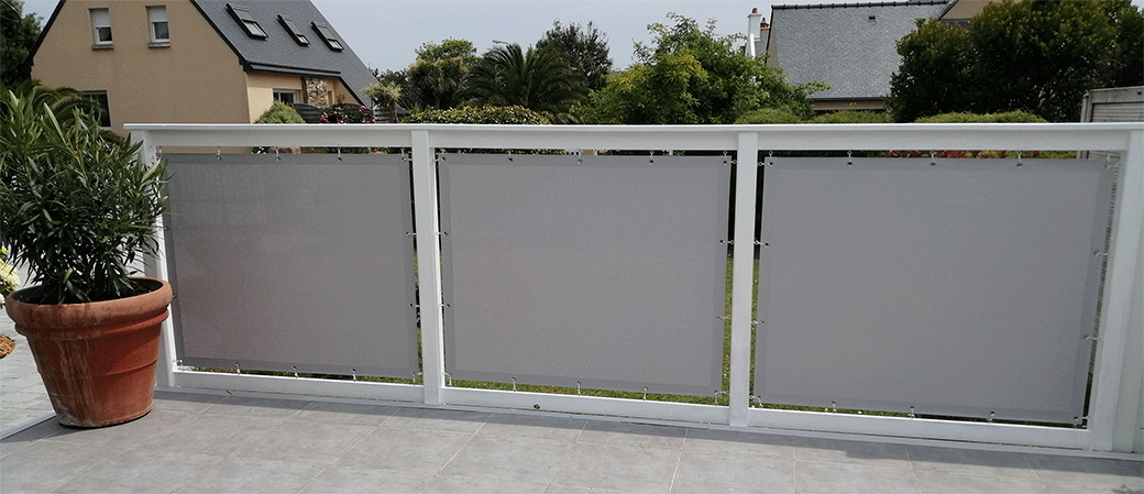 Brise vue pour jarin - Toiles de balcon et brise vue sur mesure pour votre jardin et terrasse