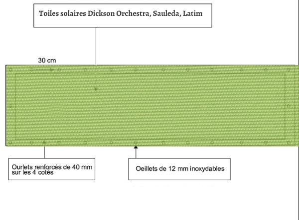 croquet brise vue Toile Sauleda 2024 ANIS balcon et terasse