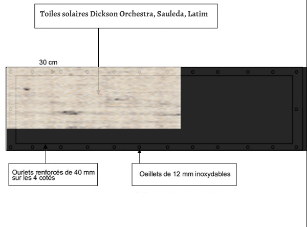 croquet brise vue Toile Sauleda 2041 BERNA balcon et terasse