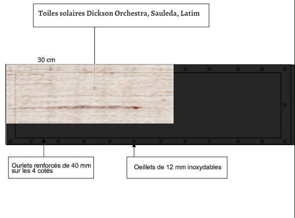 croquet brise vue Toile Sauleda 2134 LUGANO balcon et terasse