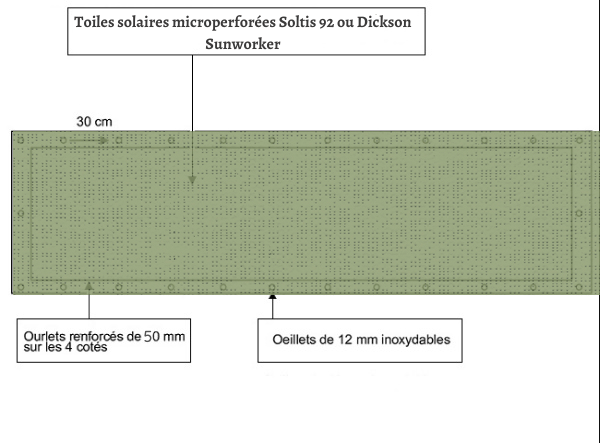 croquet brise vue Toile Soltis 92 2158 balcon et terasse