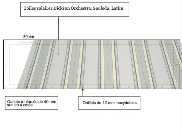 croquet brise vue Toile Sauleda 2580 CRETA T balcon et terasse
