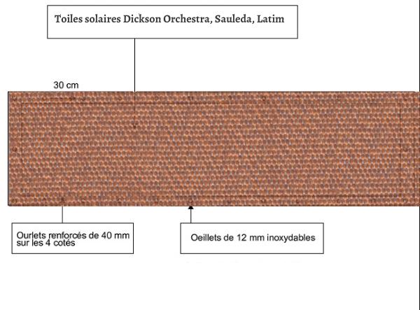 croquet brise vue Toile Sauleda 2690 COBRE balcon et terasse