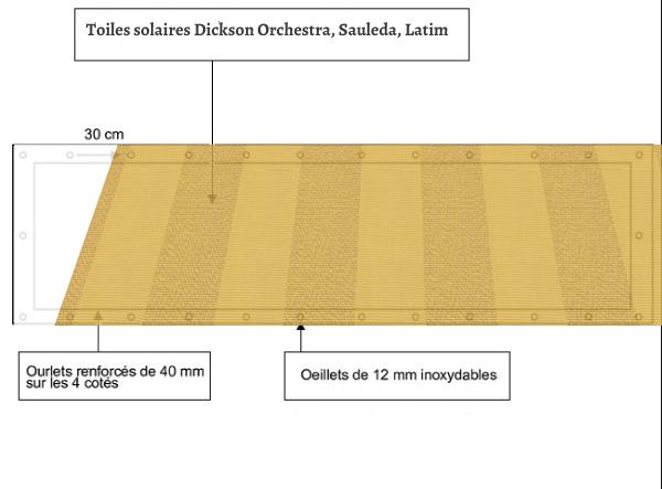 croquet brise vue Toile Sauleda 3606 AMBAR T balcon et terasse