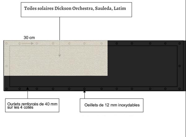 croquet brise vue Toile Sauleda 8272 balcon et terasse