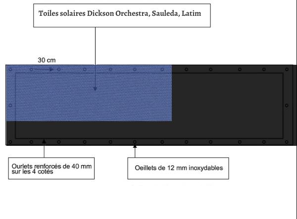 croquet brise vue Toile Sauleda 8276 balcon et terasse
