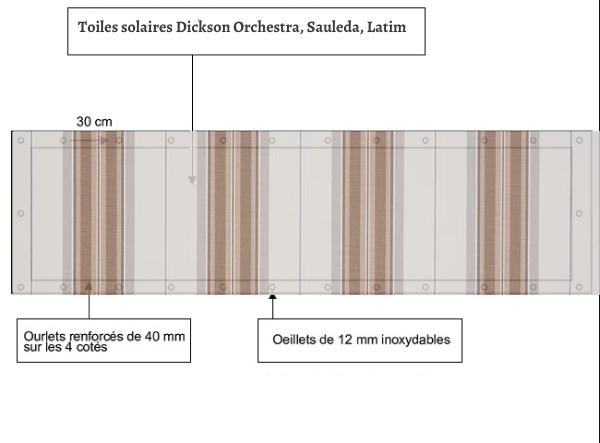 croquet brise vue Toile Dickson orchestra D315 balcon et terasse