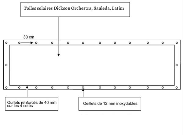 croquet brise vue Toile Dickson orchestra HOSSEGOR 6228 balcon et terasse