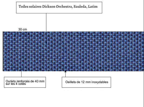 croquet brise vue Toile Latim LATIMACRYL A 169 GRANITE DISTANT balcon et terasse