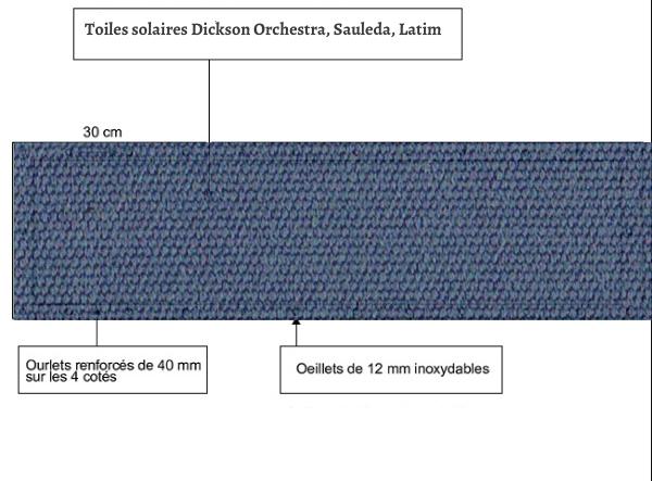 croquet brise vue Toile Latim LATIMACRYL A 17 NATTIER balcon et terasse