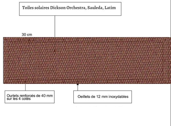 croquet brise vue Toile Latim LATIMACRYL A 26 NOISETTE balcon et terasse