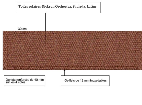 croquet brise vue Toile Latim LATIMACRYL A 28 MOKA balcon et terasse