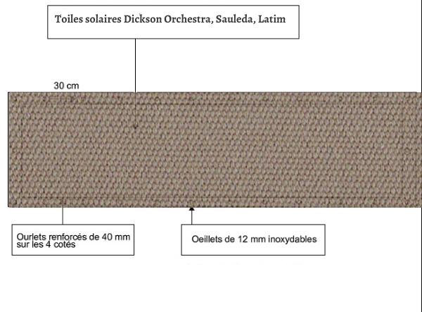 croquet brise vue Toile Latim LATIMACRYL A 29 CHICOREE balcon et terasse