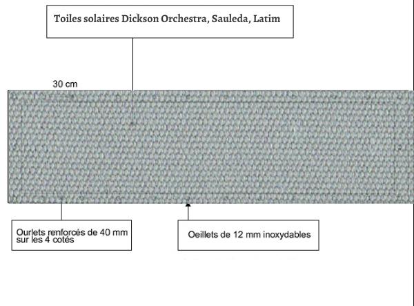 croquet brise vue Toile Latim LATIMACRYL A 44 SOURIS balcon et terasse