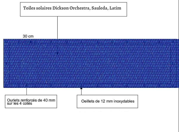 croquet brise vue Toile Latim LATIMACRYL A115 BLEU ROYAL balcon et terasse