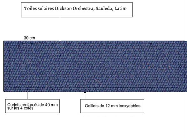 croquet brise vue Toile Latim LATIMACRYL A122 BLEU DISTANT balcon et terasse