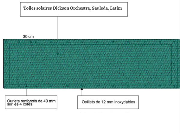 croquet brise vue Toile Latim LATIMACRYL A254 VERT balcon et terasse