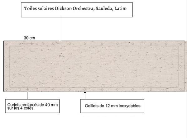 croquet brise vue Toile Dickson orchestra Perle 7972 balcon et terasse