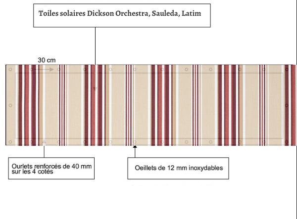 croquet brise vue Toile Dickson orchestra WINDSOR 6272 balcon et terasse